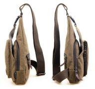 batoh pro volný čas v černé barvě s řadou kapes Baumruk