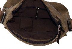 Taška přes rameno plátěná, černá Baumruk