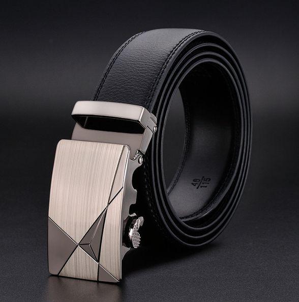 kožený pásek Fins II - černá kůže
