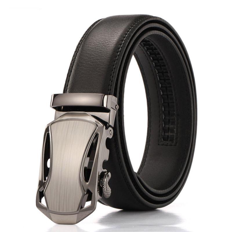 Automatický pásek Loruss - černá kůže