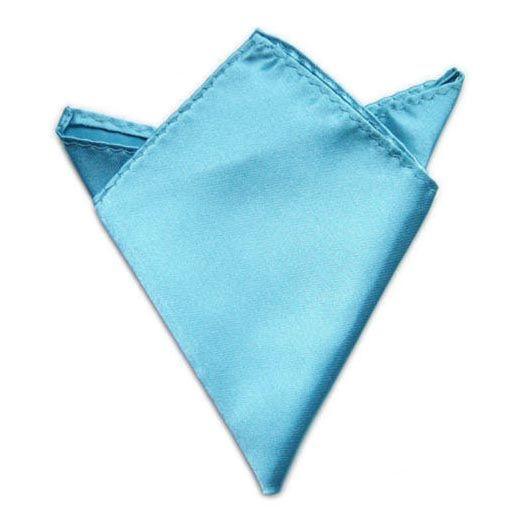 azurový kapesníček do saka 21 cm x 21 cm