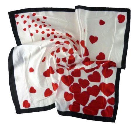 šátek na krk srdce 50x50cm Baumruk