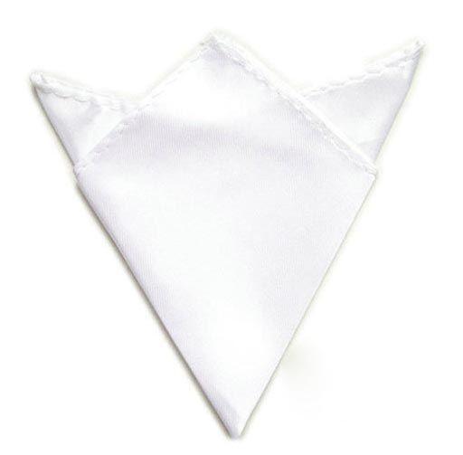 bílý kapesníček do saka