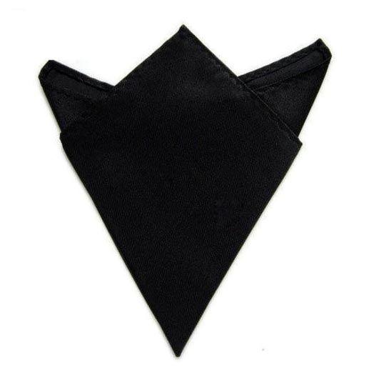 černý kapesníček do saka 21 cm x 21 cm
