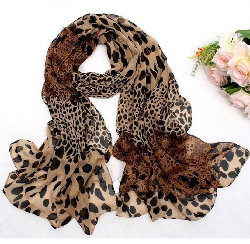 dámský šál leopard