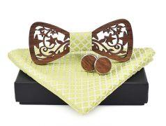 pánský motýlek dřevěný vyřezávaný sv. zelený