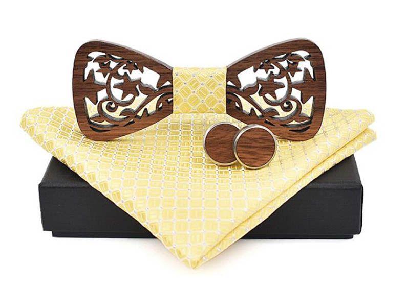 pánský motýlek dřevěný