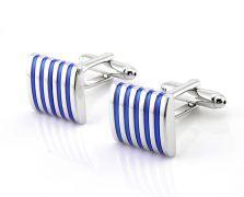 manžetové knoflíčky Silver-Blue