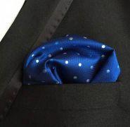 modrý kapesníček do saka