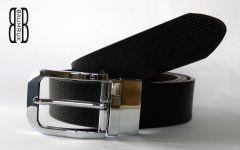 Oboustranný kožený pásek B&B II s rotující sponou Baumruk