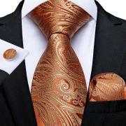 pánská kravata Gold Paisley LELE