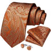Set - pánská kravata Gold Paisley