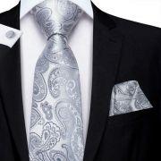 pánská kravata Grey Paisley LELE