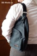 Plátěný crossbody batůžek Jumper černý
