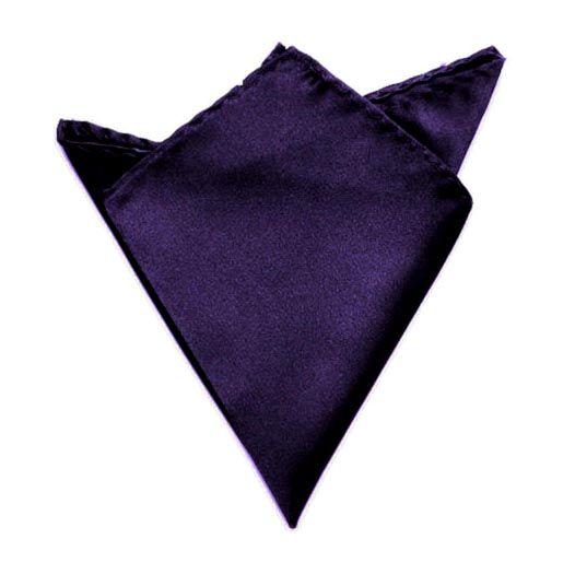 tmavě fialový kapesníček do saka 21 cm x 21 cm