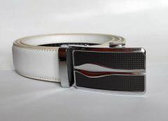 Bílý pásek Alfa s automatickou sponou