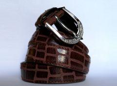 Dámský kožený pásek - Lizard