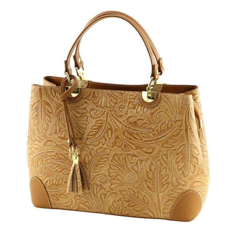 Italská kožená kabelka