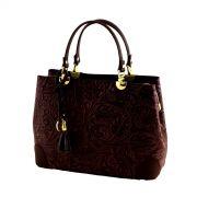 Italská kožená kabelka 1064 tmavo-hnědá (hořká čokoláda)