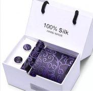Set - pánská kravata purpurová